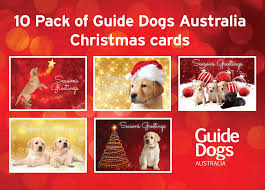 2017 christmas cards guide dogs victoria