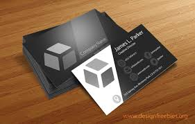 free psd templates sleek black and white business cards