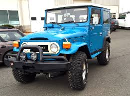 land cruiser vintage car picker blue toyota land cruiser