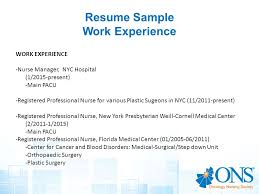 Pacu Nurse Job Description Resume by Resume Writing Workshop Creating A Winning Resume Ppt Video