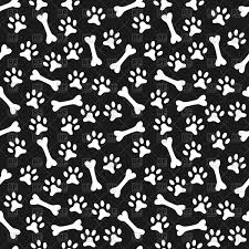 a dog bone with paw prints clipart