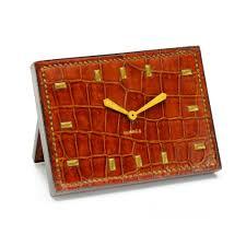 site deco vintage art deco crocodile clock by paul dupré lafon for hermès circa