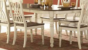 charming distressed white dining room set pictures best