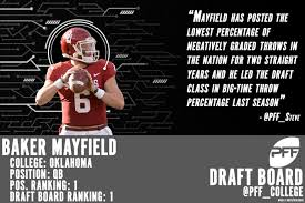 new york giants fan forum pff s top draft prospects of 2018 big board rankings what say you
