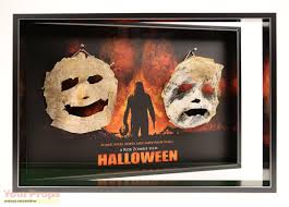 halloween paper mache masks halloween rob zombie u0027s asylum cell paper myers mask display 2