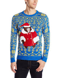 blizzard men u0027s helpful monkey ugly christmas sweater at amazon
