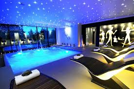 swiming pools ceiling fans with lights with oval floating light