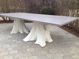 how to clean concrete table top concrete and white washed root tree dining table mecox gardens