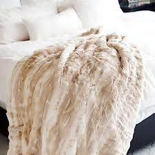blonde mink couture faux fur throw blanket throws u0026 pillow