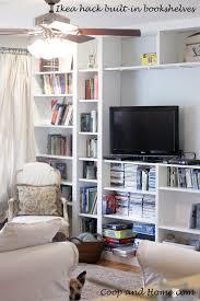 ikea hack built in bookshelves u2013 coop and home