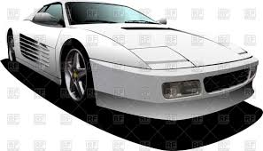 ferrari headlights white sport car with hidden headlights vector clipart image 51120