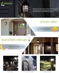 Luxury Outdoor Lights Timer Architecture by Lohas Led Dusk To Dawn Light Bulb Light Sensor Bulbs Porch Light
