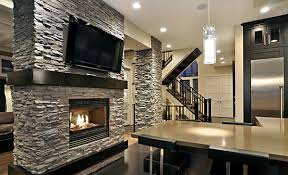 Stacked Stone Around Fireplace by Fireplace Stone Fabulous Floor To Ceiling Stacked Stone Fireplace