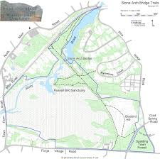 Stony Brook Map Stone Arch Trail Westford Conservation Trust