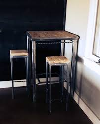 Square Bar Table Square Bar Table And Stools Atlas Iron Furniture