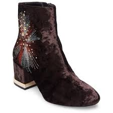 womens boots lord and design lab lord s auntie embroidered velvet b