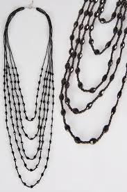 large black beaded necklace images Large necklaces plus size necklaces yours clothing jpg