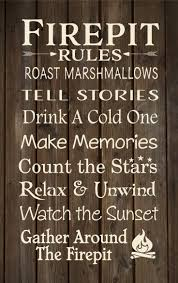 Firepit Signs 23 Best Cing Firepit Signs Images On Pinterest Metal Panels
