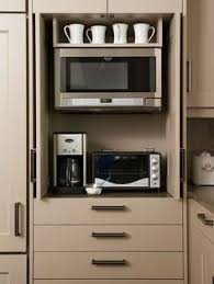 Appliance Storage Cabinet Keep Small Appliances Out Of Sight Toasters Outlets And Forget