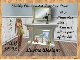 Shabby Chic Fireplaces by Second Life Marketplace 199 Linden Special Ld Shabby Chic