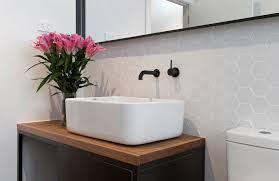 magnificent hexagon tilein bathroom scandinavian with glamorous