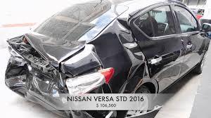 nissan versa trunk size accidentado nissan versa 2016 autocomercia youtube