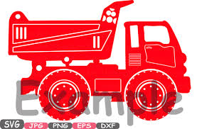car toy clipart construction machines silhouette svg file cutting files dump