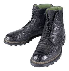 buy boots uae berluti black crocodile leather lace up boots shoes size 9