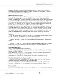 Example Of Skills For Resume by Crosscultural Comunication