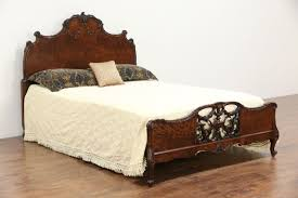 french style carved 1920 u0027s antique full size bed walnut burl