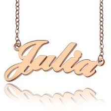 Name Plated Necklace Custom Nameplate Necklace Cheap