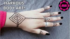 harkous body art black stain tattoo design simple tattoo