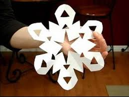 How To Make A Snowflakes Out Of Paper - how to make paper snowflakes open cut angled center paper