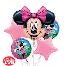 helium balloon delivery in selangor happy birthday minnie mouse balloon bouquet 5pc from category