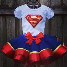 superman ribbon birthday outfiit superman supergirl ribbon trimmed