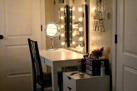 Make Up Mirrors With Lighted Vanity Table With Lighted Mirror Diy Best Home Furniture Decoration