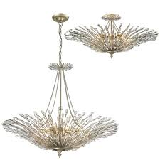Ceiling Mount Light Fixtures Elk 31433 8 Viva Aged Silver Flush Mount Ceiling Light Fixture