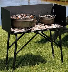 Lodge C Dutch Oven Cooking Table With Tall Windscreen Bass Pro