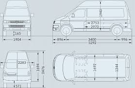volkswagen drawing volkswagen transporter t5 2009 blueprint download free blueprint