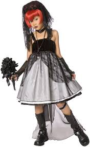 gothic halloween costumes dark bride child costume halloween costume pinterest