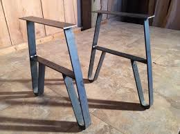 small metal table legs hairpin metal table legs 28 inch 3 rod raw steel 1 2 intended for