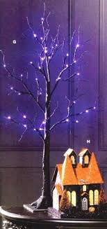 5 artificial tree with purple lights artificial tree