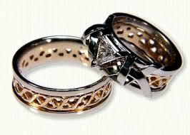 celtic wedding sets celtic carlow knot wedding band celtic wedding rings affordable