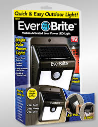 Stick On Led Lights As Seen On Tv Ever Brite Motion Activated Solar Powered Led Light