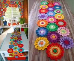 diy crochet flower power valance free pattern