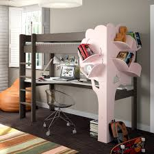 Book Self Design by Kids High Sleeper Bed With Desk U0026 Tree Bookcase Cuckooland