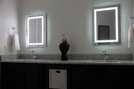 illuminated mirror bathroom home design