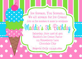 ice cream birthday party invitations dolanpedia invitations ideas