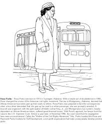 innovative ideas rosa parks coloring page free printable pages