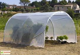 serre tunelle de jardin abri de culture pied droit richel 3x4m 32mm 200µ richel
